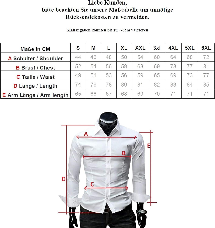 6XL Modello Oktoberfest Quadro Kayhan Hombre Camisa Manga Larga Slim Fit S