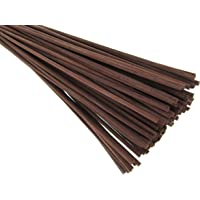 "Breath Me TM Natural Rattan Reed Sticks for Room Fragrance Diffusers 12"" X 3mm-Coffee Brown"