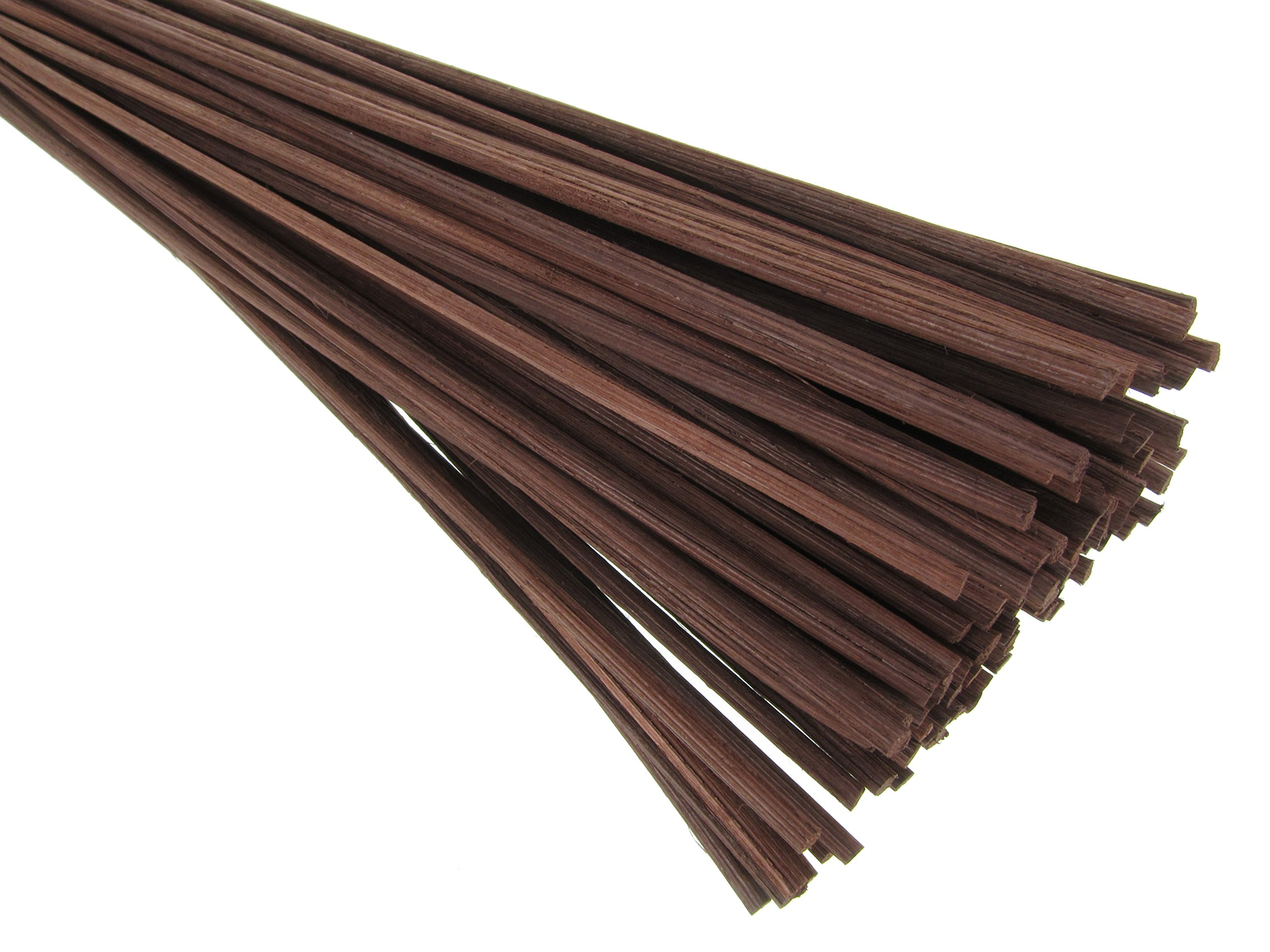 Breath Me TM Natural Rattan Reed Diffuser Replacement Stick for Home Fragrance Diffusers 12'' X 3mm-Coffee Brown(25 Pcs)