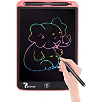 Proffisy Colourful Screen LCD Writing Tablet 8.5 Inch Color Line E-Writing Electronic Board and Scribble MeMO Notes with 2 Magnet for Kids and Adults at Home,School and Office Multicolor (Pink)
