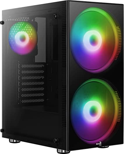 Aerocool Python, Caja de PC ATX, cristal templado, Ventiladores RGB 2x20cm 1x12cm: Amazon.es: Informática