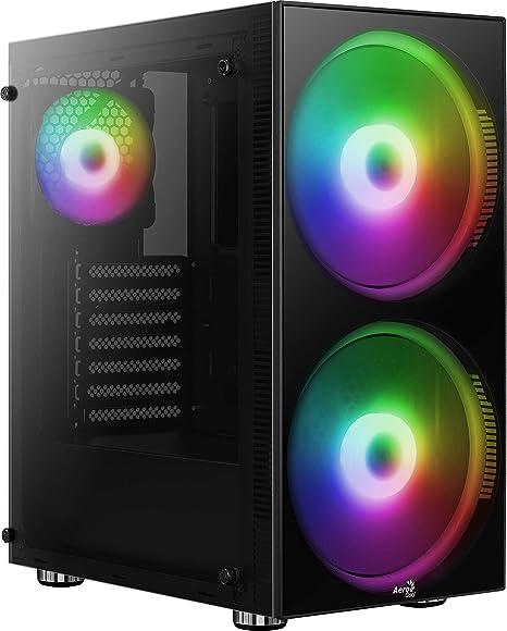Aerocool Python, Caja de PC ATX, cristal templado, Ventiladores ...