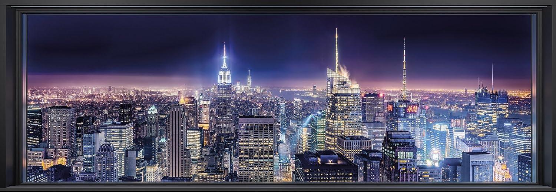 Taille: 368/x 127/cm 4/pi/èces Komar 4 877/Papier peint photo en papierSparkling New York fabriqu/é en Allemagne avec colle Largeur x hauteur multicolore