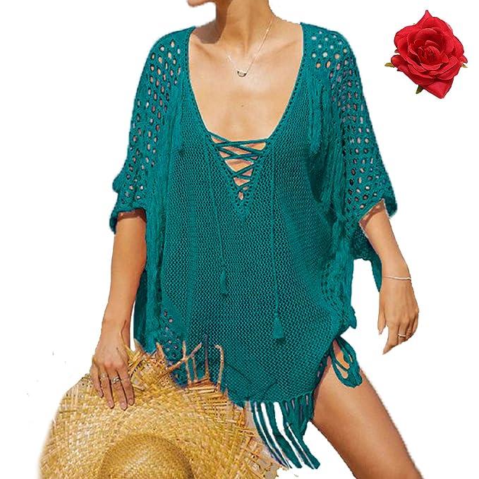 efc9efa3e80b MuRstido Pareo Mujer Bikini Cover Up Vestido Camisolas para Playa ...