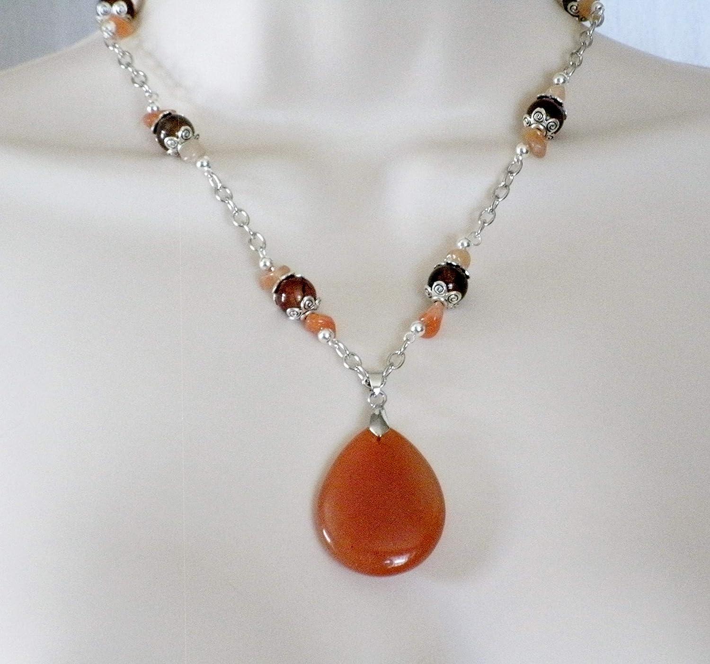 Red Aventurine Necklace handmade jewelry boho bohemian new age gypsy hippie