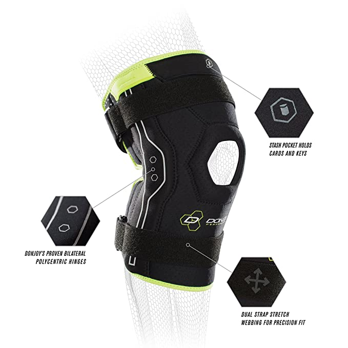 aeac021424 Amazon.com: DonJoy Performance Bionic Knee Brace – Hinged, Adjustable  Patella Support, Lateral / Medial Ligament (ACL, MCL, LCL), Meniscus, Knee  Sprains for ...