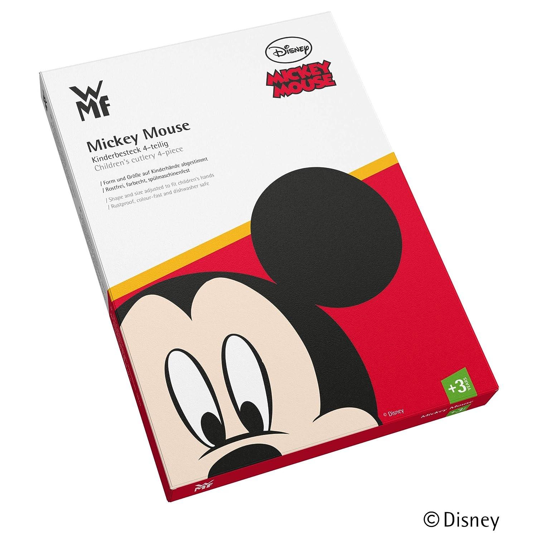 WMF Disney Mickey Mouse - Cubertería para niños 4 piezas (tenedor, cuchillo de mesa, cuchara y cuchara pequeña) (WMF Kids infantil): Amazon.es: Hogar