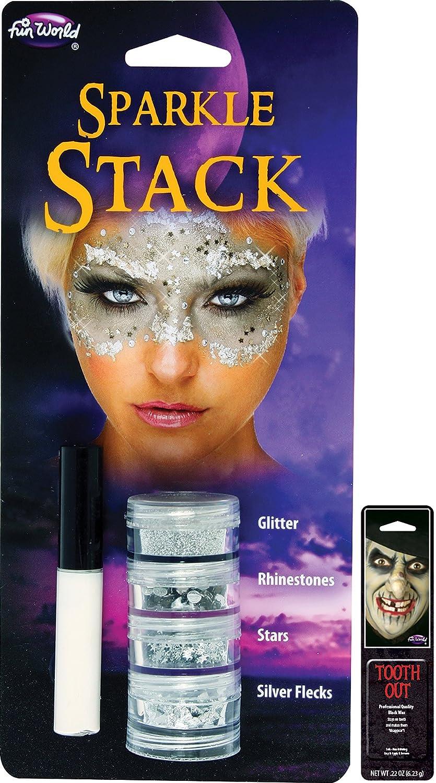 Potomac Banks® スパークルスタック メイクアップ無料パック シルバー B07CJL3977 (Silver)