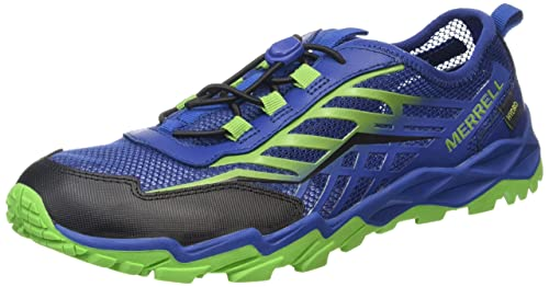 Merrell Ml-b Hydro Run - Zapatillas de running Niños, Mehrfarbig (BLUE/GREEN/Negro), 34 EU: Amazon.es: Zapatos y complementos