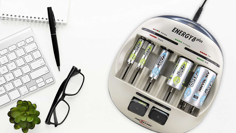 Ansmann Energy 8 Plus Akku Ladegerät Ladestation Für Elektronik