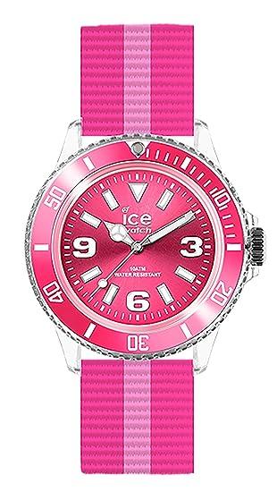 u.n.14 - Ice United - Reloj Mujer - Cuarzo Analógico - Reloj Rosa - Pulsera Nylon: Ice-Watch: Amazon.es: Relojes