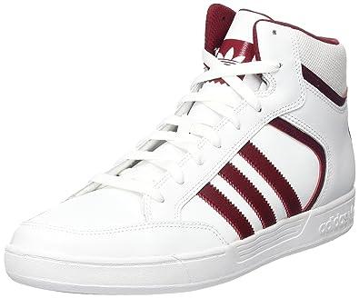 best website 2c346 7f3dc adidas Varial Mid, Baskets Hautes Homme, Blanc Collegiate Burgundy Footwear  White, 38