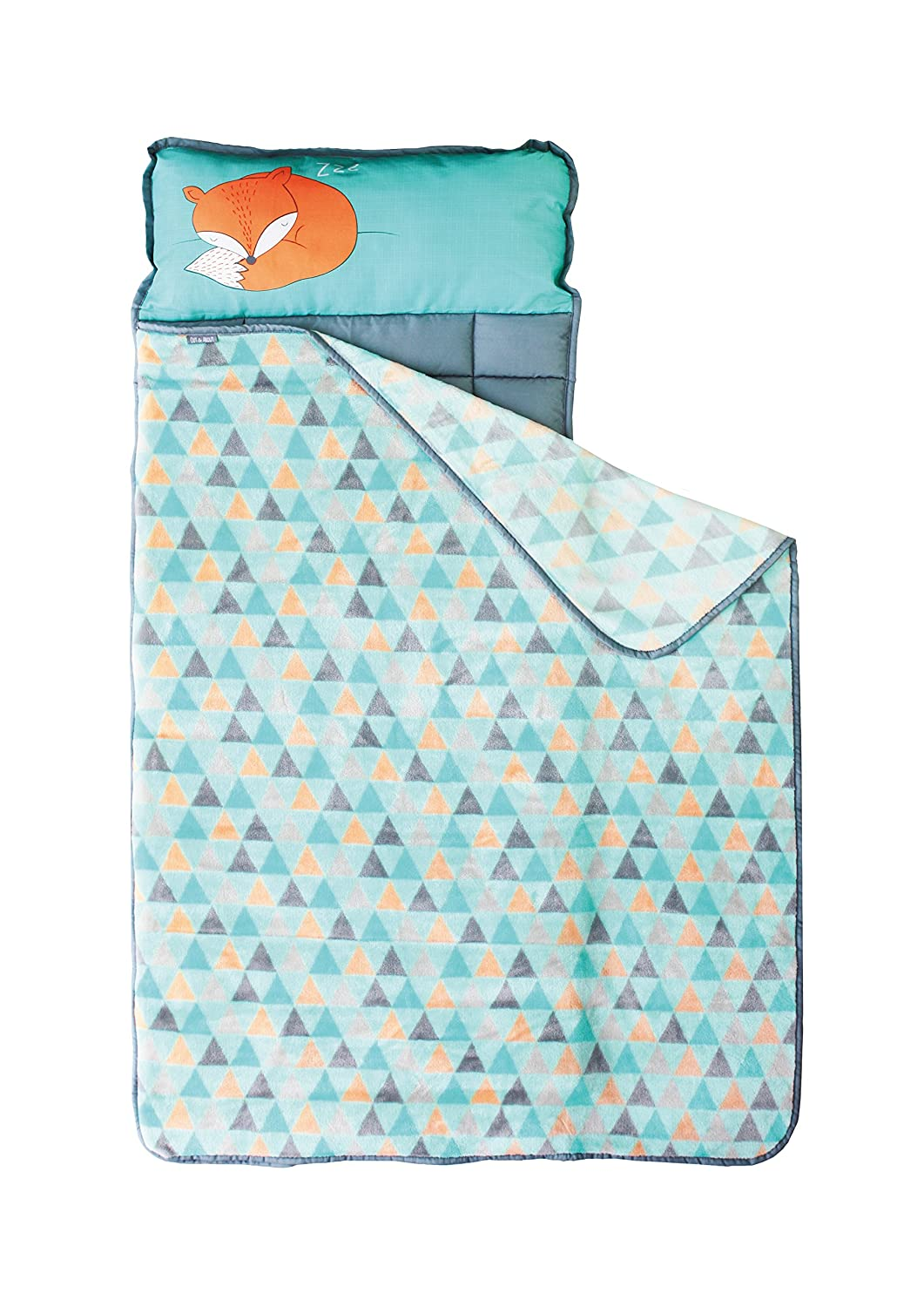 Nap Mats for Preschool Kinder Daycare – Toddler Kids Portable Sleeping Mat with Blanket + Pillow – Perfect for Boys or Girls (Sleepy Fox)