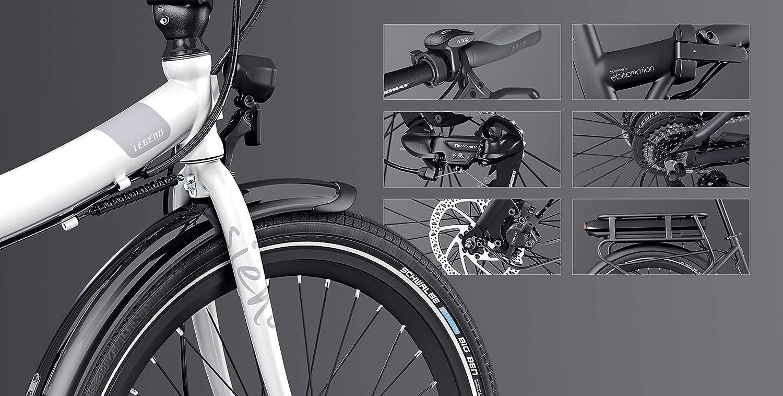 Legend Siena Bicicleta Eléctrica Plegable Urbana Smart eBike Ruedas de 24 Pulgadas, Frenos de Disco Hidráulicos, Batería Ion 36V: Amazon.es: Deportes y aire libre