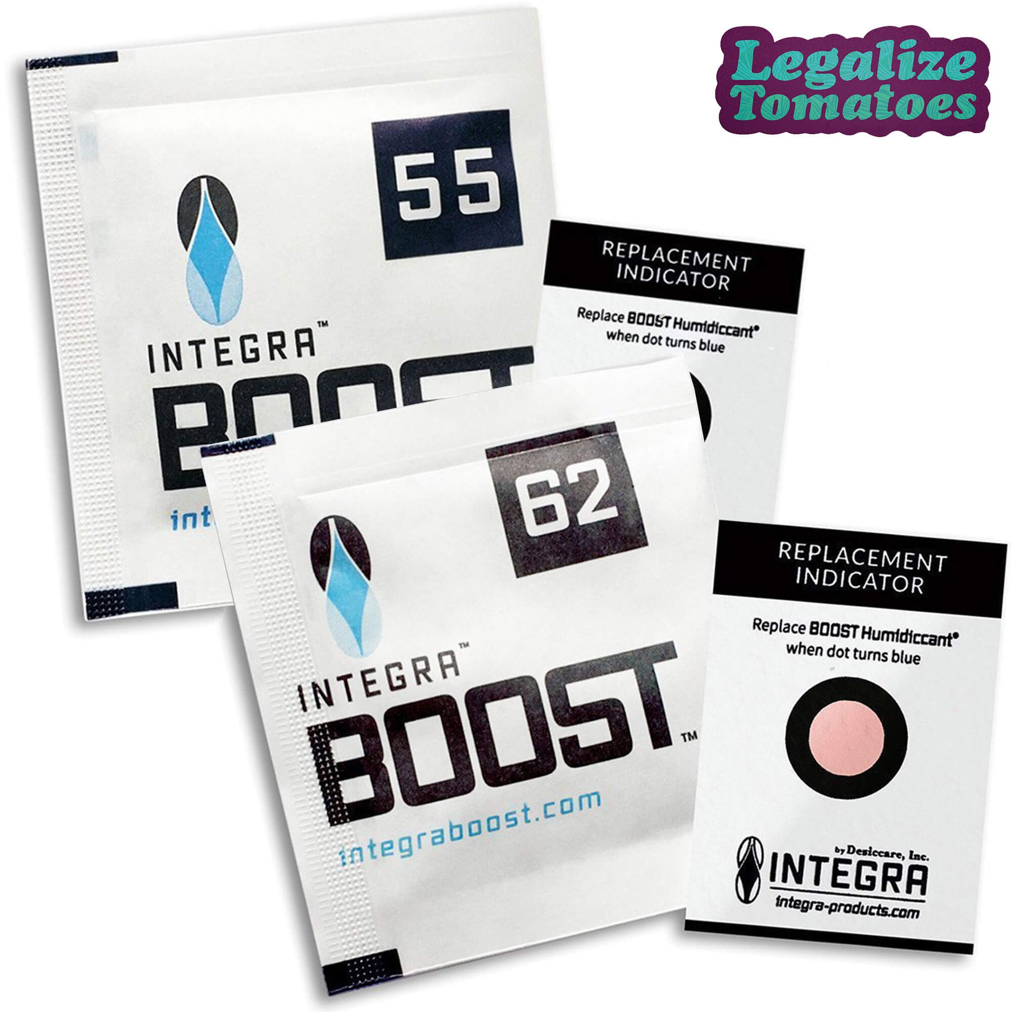 Integra Boost 4g Gram Humidity Control Packs 62% (100 Count) - Includes Free Legalize Tomatoes Sticker by Integra