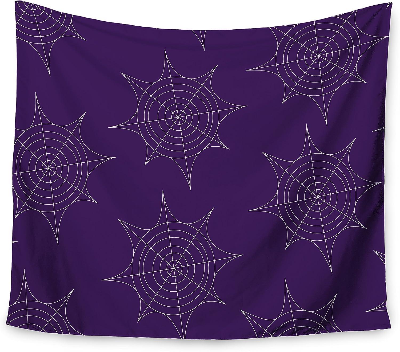Purple Wall Tapestry KESS InHouse Kess Original Spiderwebs 51 X 60