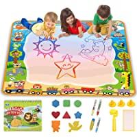 lenbest Super Large Water Drawing Mat 40 x 40 inch, Aqua Magic Painting Pad, Educational Toy Gift for Toddlers, Funplus…