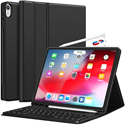 a444268da88 iPad Pro 12.9 Case with Keyboard 2018-3rd Gen [Support Apple Pencil  Charging]