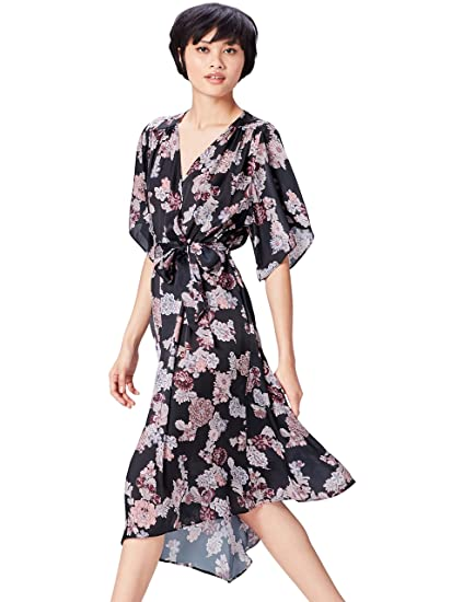 find. Women s Midi Floral Dress  Amazon.co.uk  Clothing a6aa588a2e6
