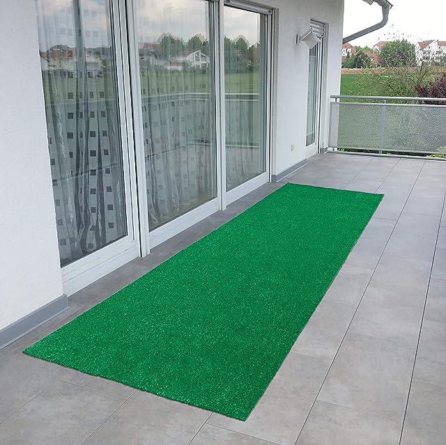 Ottomanson Evergreen Collection Indoor/Outdoor Green Artificial Grass