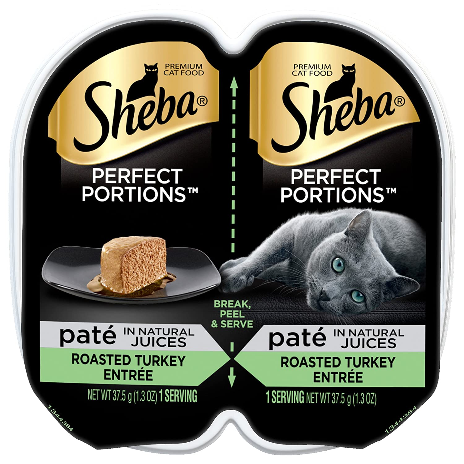 Sheba Perfect Portions Turkey Twin Pack Wet Cat Food Turkey, 2.6 oz