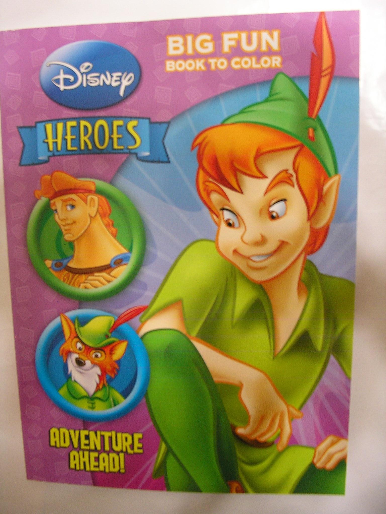 Disney Heroes Adventure Ahead Coloring Book Peter Pan Etc