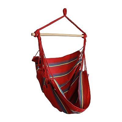 Hammaka Woven Hammock Chair, Red : Garden & Outdoor