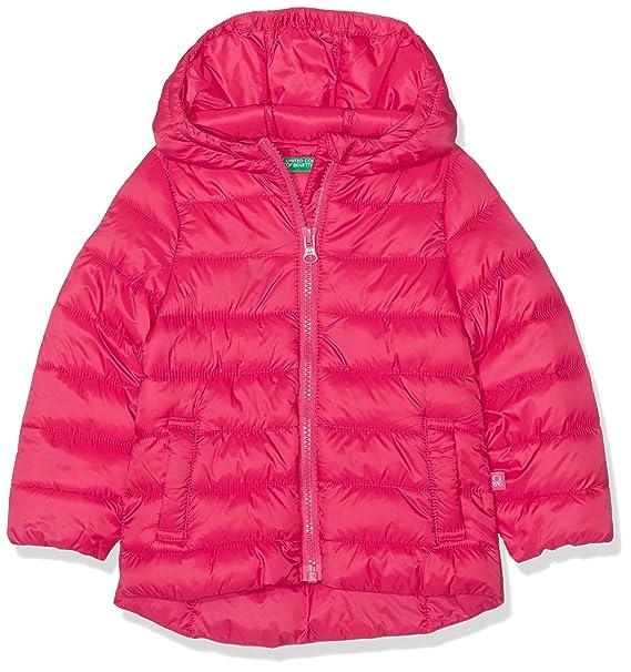 United Colors of Benetton Niñas Jacket Abrigo Not Applicable, Rojo (Rossol Fragola 02e)