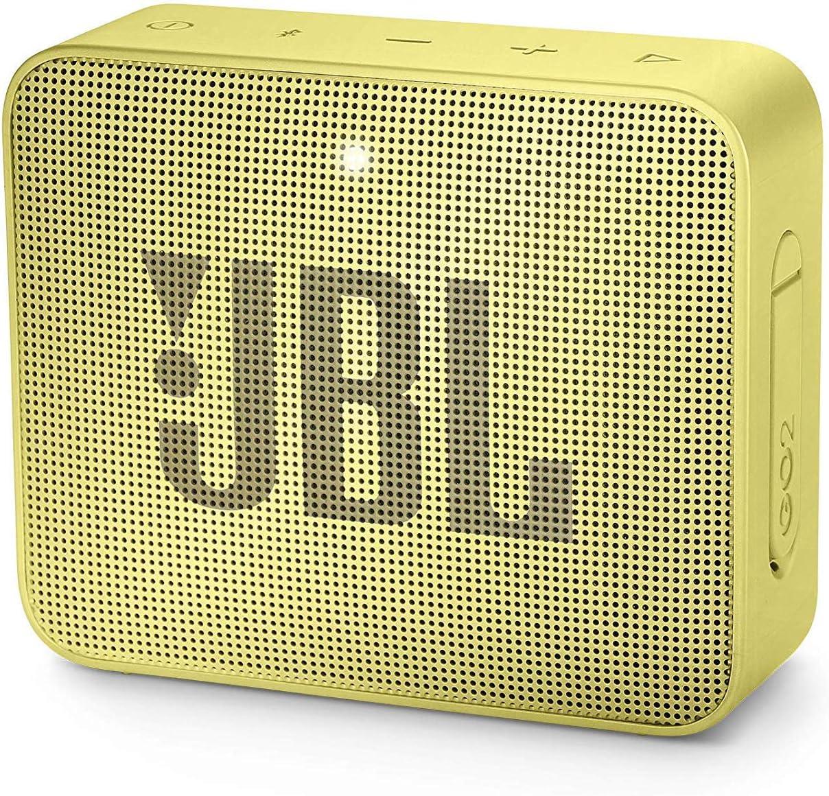 JBL GO 2 – Altavoz inalámbrico portátil con Bluetooth – Parlante resistente al agua (IPX7) – hasta 5h de reproducción con sonido de alta fidelidad – Amarillo