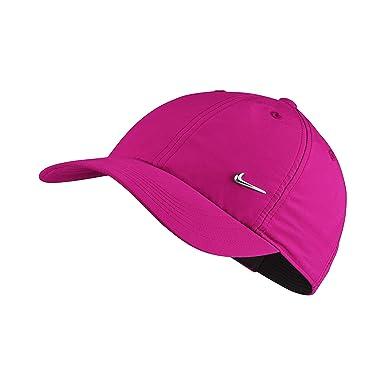 0169031f159a Nike Y NK 86 Casquette Enfant Metal Swoosh Bonnet de Course, tödliches  Rose Argent
