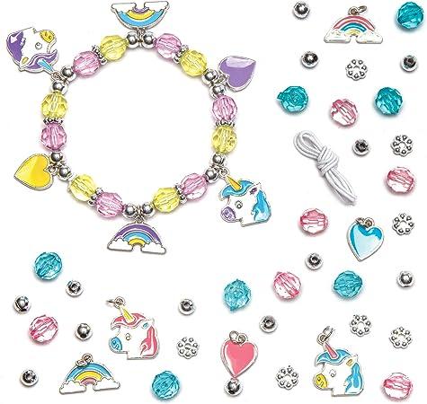 Baker Ross- Kits de pulseras con dijes de unicornio (Pack de 3 ...