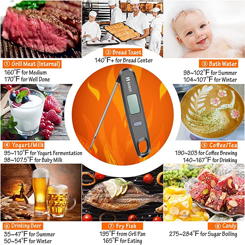 Harbor Digital Electronic Food Thermometer  via Amazon