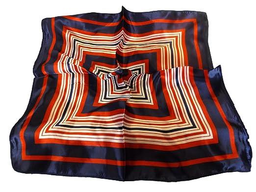 9eb0a7f86daf Heyjewels - Foulard carré sensation soie 50x50cm -  Amazon.fr ...
