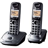 Panasonic KX-TG2512CXM Digital Cordless Phone, Metallic Gray