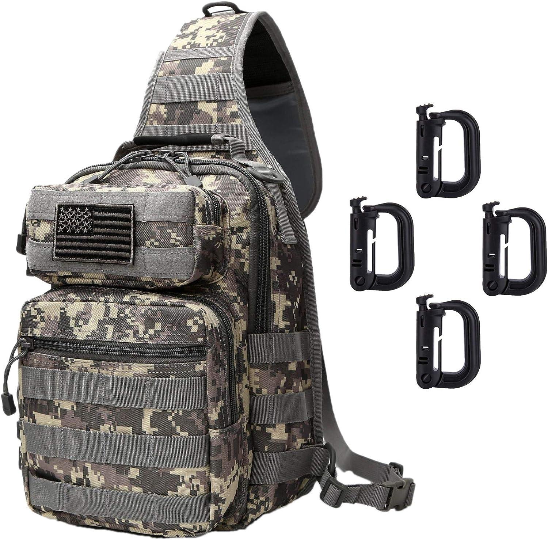 Neasyth Tactical Sling Bag Backpack Shoulder Chest Bag Outdoor Travel Hiking for Men