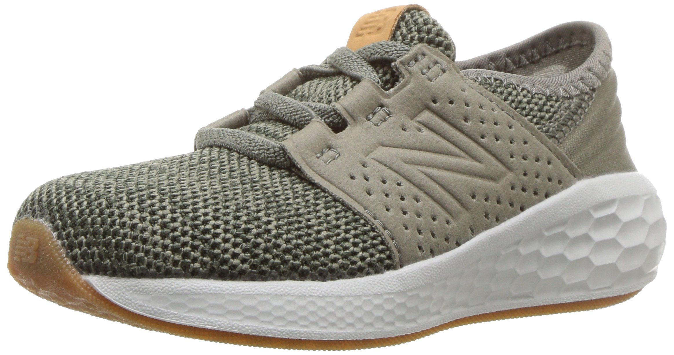 New Balance Boys' Cruz V2 Fresh Foam Running Shoe Military Foliage Green 2 M US Infant