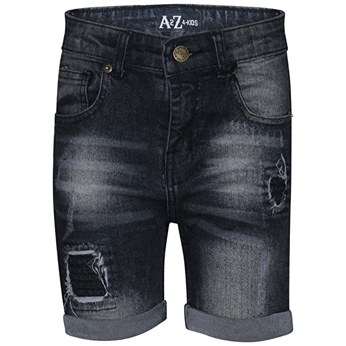 bb23778238cd Image Unavailable. Image not available for. Color: Kids Boys Shorts Denim  Ripped Chino Bermuda Jeans Short ...