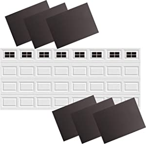 32Pack 2 Car Garage Kits Magnetic Panels Sheets Fake Faux Magnetic Windows Hardware Decorative Decor for Metal Door(Size 6