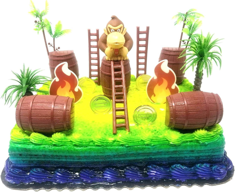 Terrific Amazon Com Cake Topper 15 Piece Super Mario Brothers Donkey Kong Personalised Birthday Cards Akebfashionlily Jamesorg