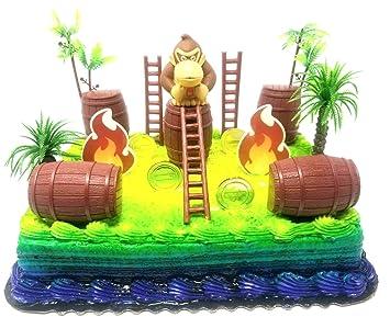 Terrific 15 Piece Super Mario Brothers Donkey Kong Birthday Cake Topper Set Funny Birthday Cards Online Amentibdeldamsfinfo