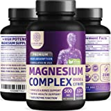 N1N Premium [3X Absorption, Vegan] Magnesium Complex, Powerful Supplement for Sleep, Leg Cramps, Muscle Recovery & Relaxation