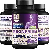 N1N Premium [3X Absorption, Vegan] Magnesium Complex, Powerful Supplement for Sleep...