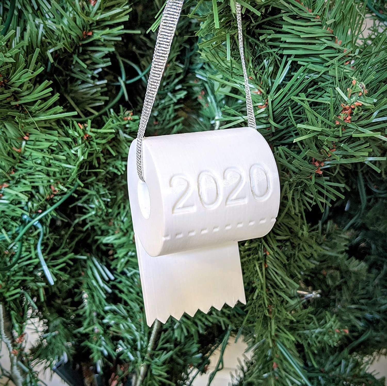 NewLove Christmas Tree Ornaments for 2020, Toilet Paper Ornaments for Christmas Tree Decor, Christmas Decorations Sets Gifts for Family Holiday Party Decoration (Toilet Paper - 1 PC)