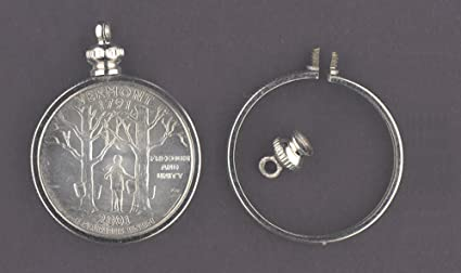 Amazon 25 cent usa quarter coin holder bezel for charm 25 cent usa quarter coin holder bezel for charm necklace pendant aloadofball Images
