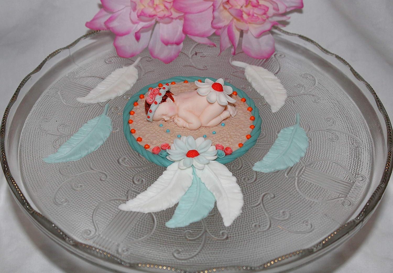 Dreaming Princess Fondant Baby Cake Topper