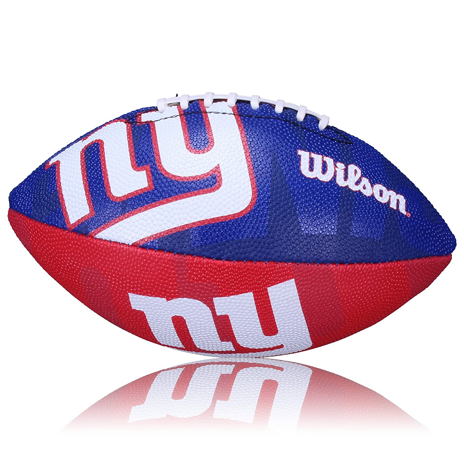 Wilson Football NFL Junior NY Giants Logo Junior - Balón de fútbol americano (infantil, caucho), color rojo, talla Junior WL0206183840