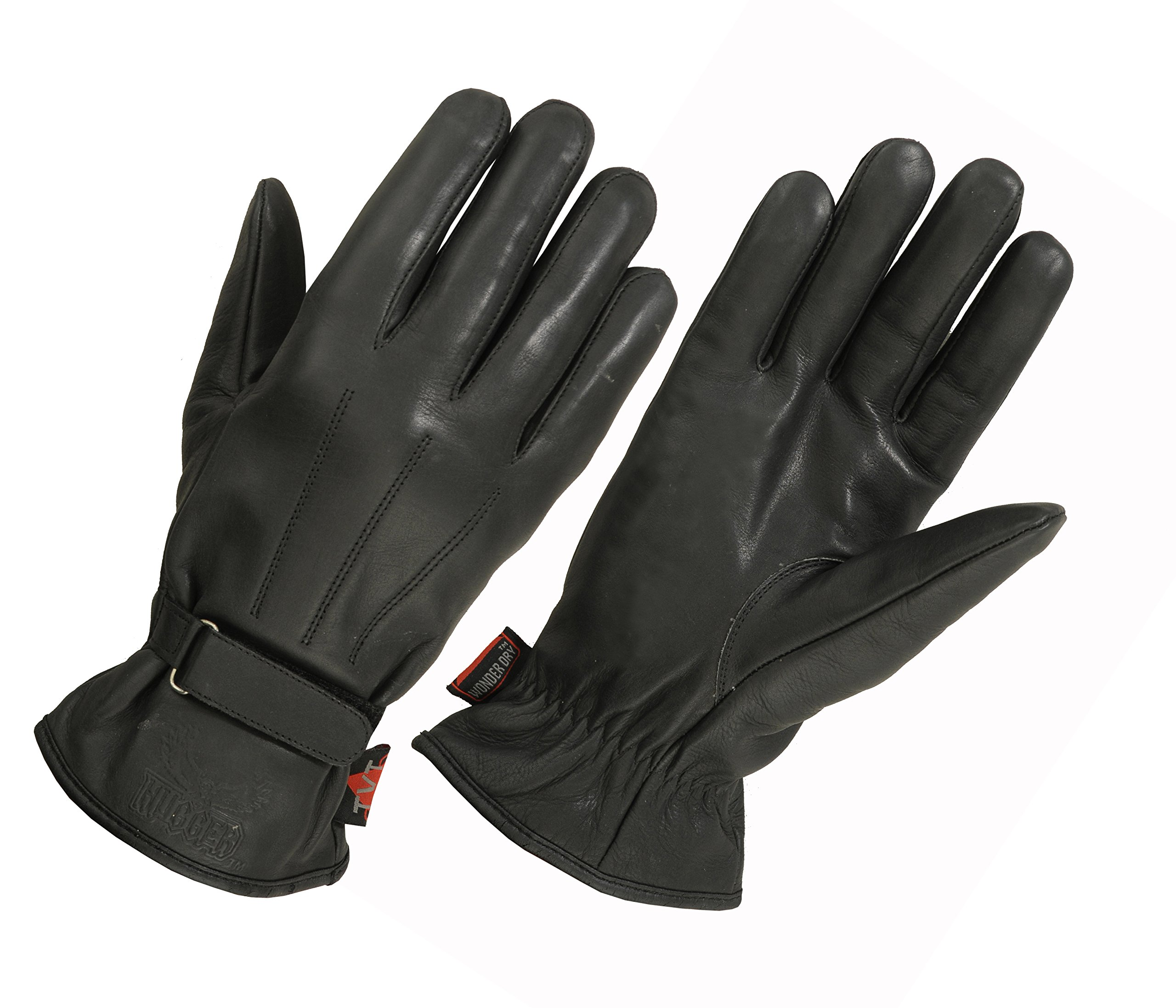 Ladies Water Resistant Leather Lined for Winter Driving Glove, Motorcycles, Classic Style (Small, Black)