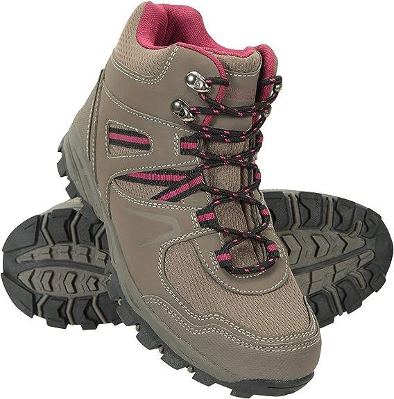 Mountain Warehouse Botas cómodas McLeod para Mujer - Botines Transpirables, Botas de montaña Resistentes, Zapatos para Caminar Ligeros y Acolchados