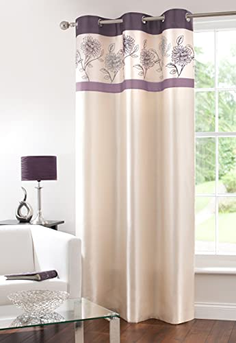 Fully Lined Faux Silk Blackout Curtain Thermal Insulated Room Darkening Engery Saving Drape Noise Reducing No Formaldehyde