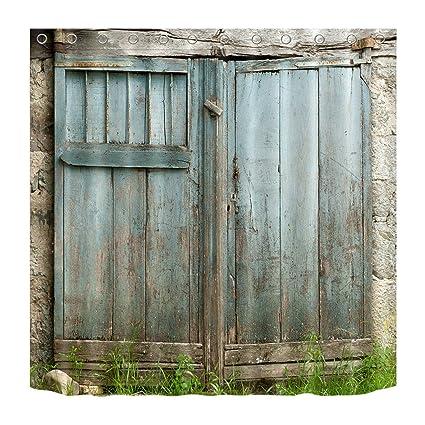 LB Personalizzare Stile country porta in legno azzurro ...